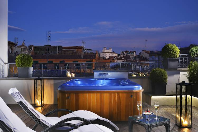The first luxury art hotel roma italian allure travel for Terrace jacuzzi