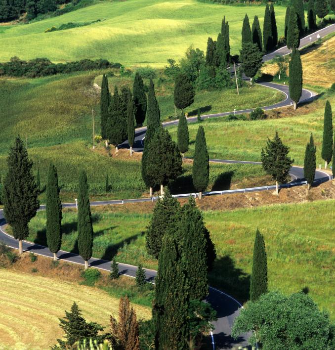 itineraries italy ferrari journey rome tuscany