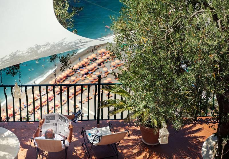 Terrace views at Villa Oliviero
