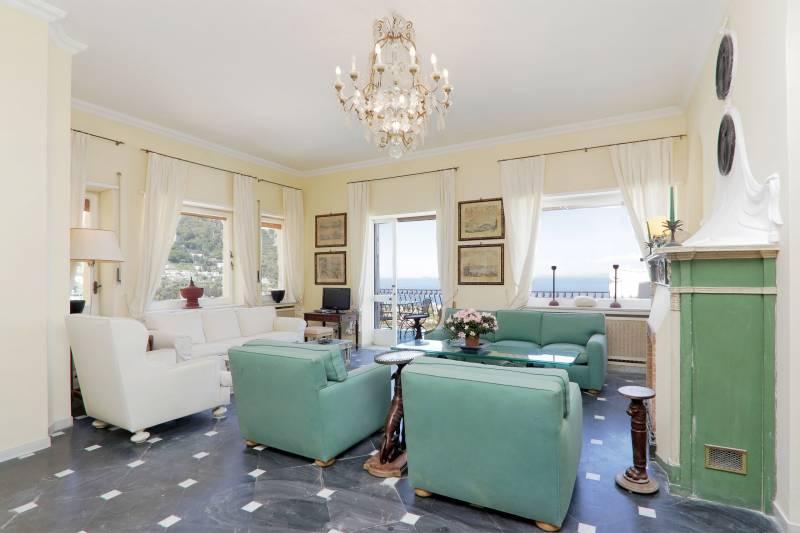 Villa L'Oleandro - Capri living room