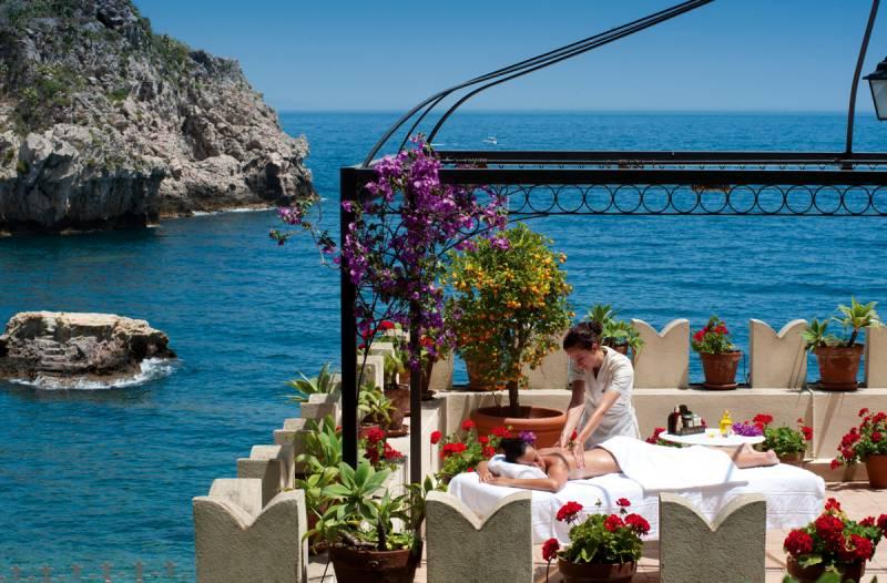 A private massage on a Suite terrace