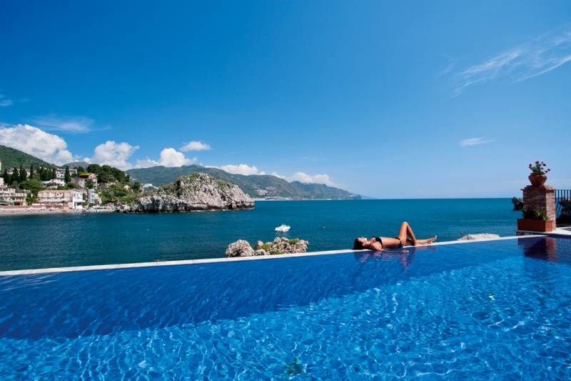 The infinity swimming pool