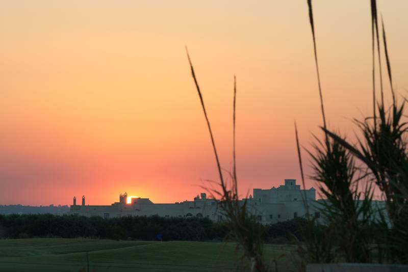 Borgo Egnazia panorama at sunset