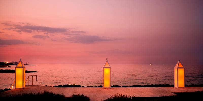 Cala Masciola - the beach at sunset