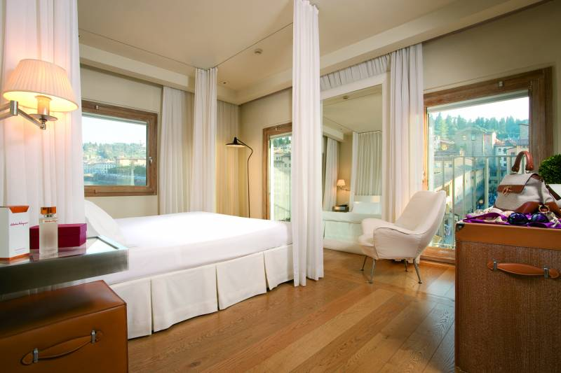 Prestige Room with Arno River view at Continentale