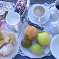 Delicious fresh Italian breakfasts Amalfi Coast Italy