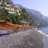Positano main beach Amalfi Coast Italy
