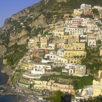 Positano life in Italy