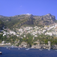 Views in Positano Amalfi Coast Italy