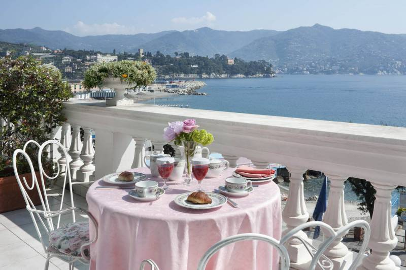 Breakfast on your private balcony with sea views