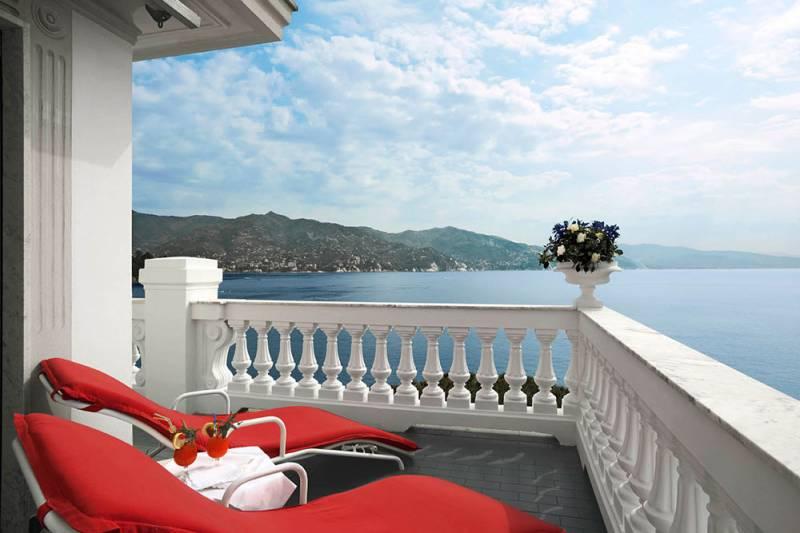 Grand Hotel Miramare Luxury Suite balcony with panoramic sea views