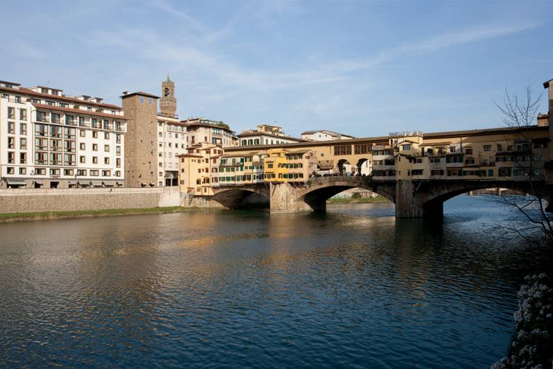 Ponte Vecchio view from Borgo San Jacopo Restaurant Hotel Lungarno Florence