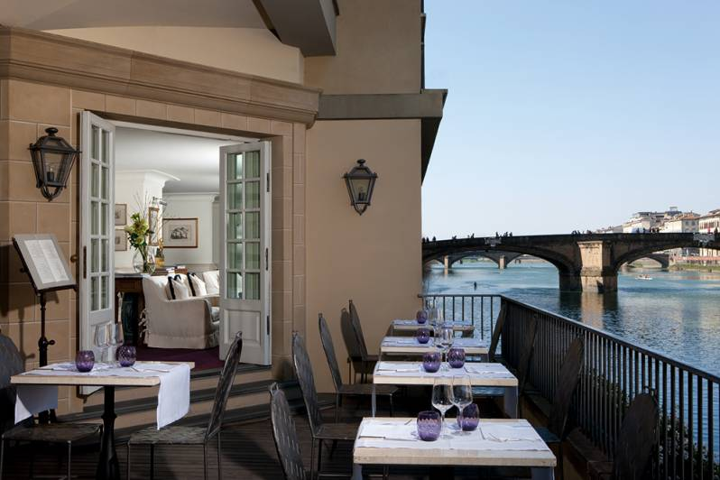 Restaurant Terrace on the River Arno Hotel Lungarno Florence