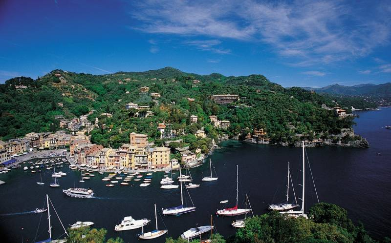 View of Portofino from St. Giorgios Church
