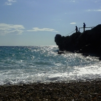 Remote seaside pebble beaches- Capri, Amalfi Coast