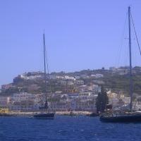 Sailing into Ponza, Lazio
