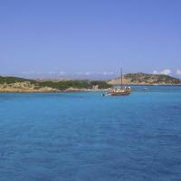 Sailing north around Sardegna