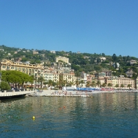 Santa Margherita waters edge Italian Riviera