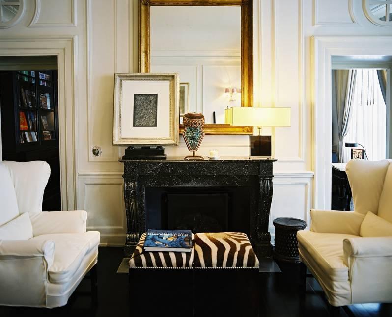 J K Lounge fireplace