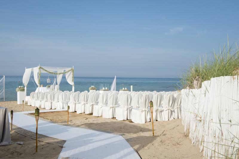 Weddings at the private beach club