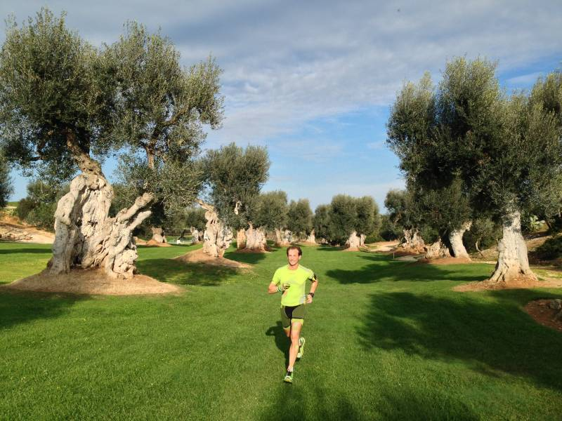 Sports amongst the olive trees