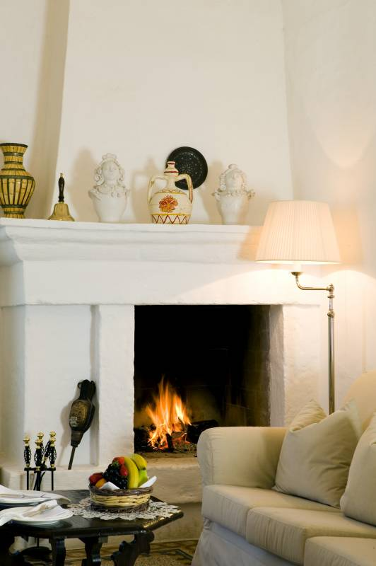Tower Suite fire place