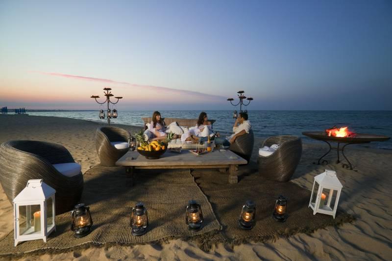 Private beach lounge