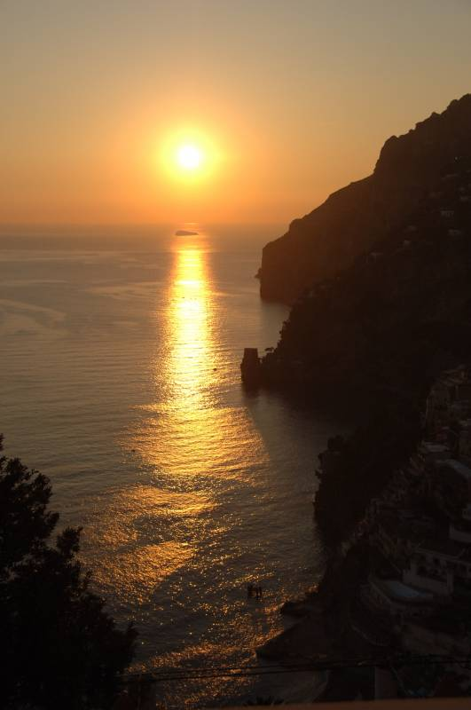 Sunset overlooking Positano