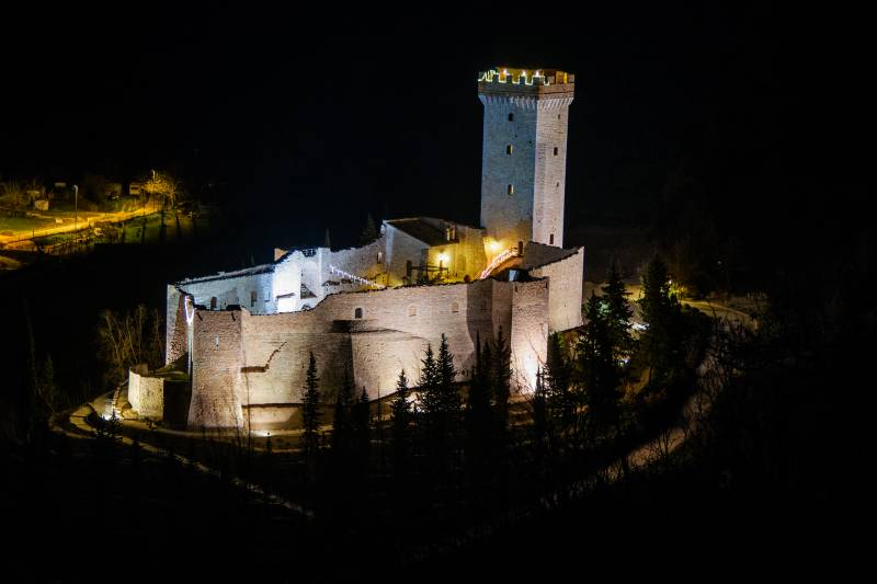 Castle by night