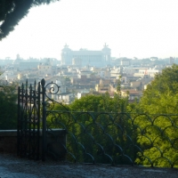 views from Villa Borghese