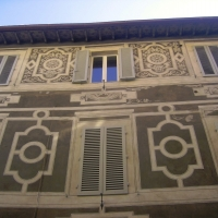 Exterior homes in Florence Tuscany Italy