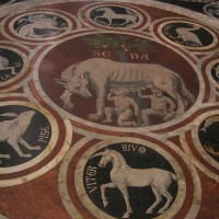 Historical moments in Siena's Duomo, Tuscany Italy