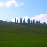 Rolling Tuscan hills italy
