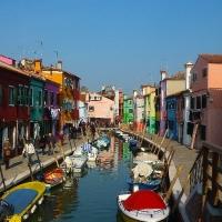 Island of Burano in Venice Italy