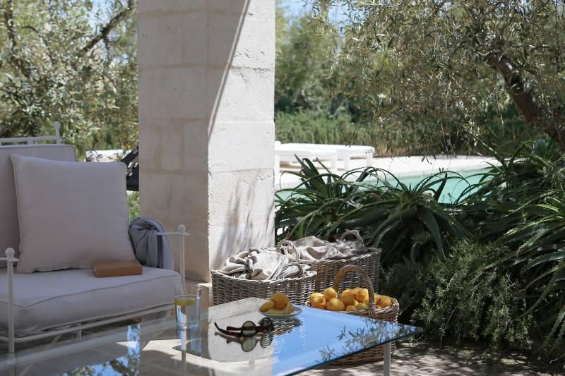 Private gazebo and swimming pool