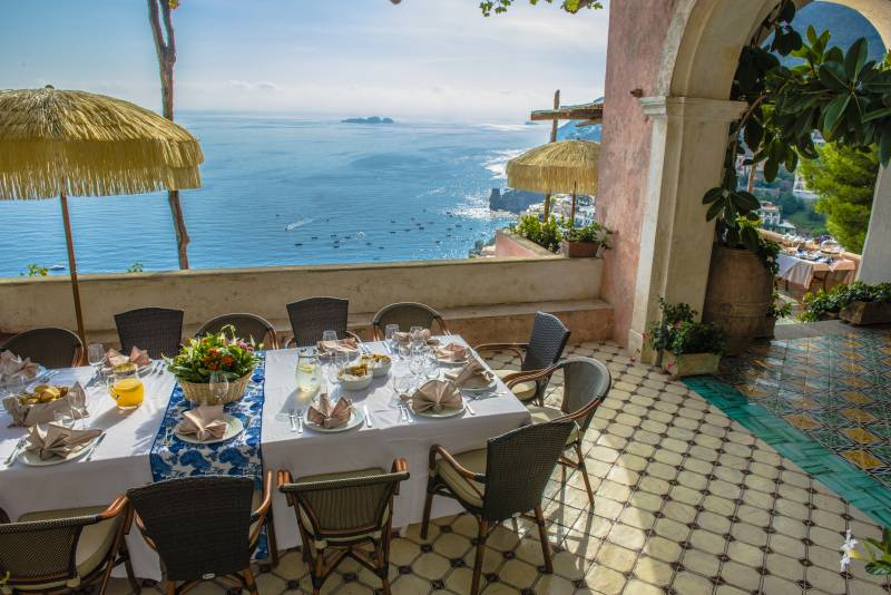 Villa san giacomo positano italian allure travel for 1741 on the terrace