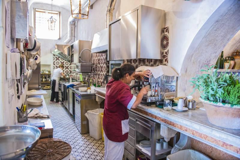 Staff in the kitchen