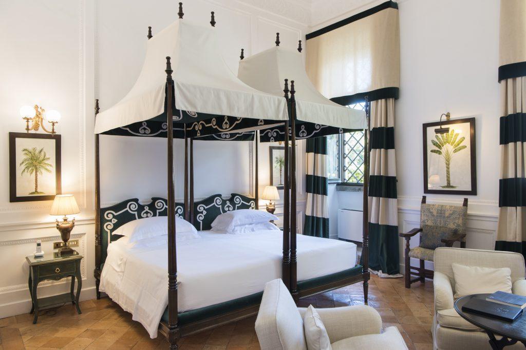The Garden room at La Posta Vecchia Hotel in Ladispoli