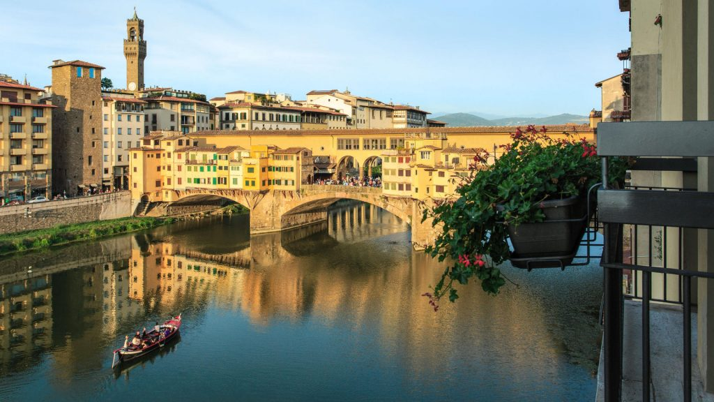 Views of the Ponte Vecchio from Hotel Lungarno in Florence - Luxury Winter Escapes