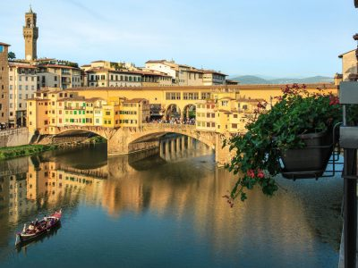 Views of the Ponte Vecchio from Hotel Lungarno in Florence