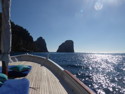 Private Boat Charters circumnavigating the island of Capri, Ischia and Procida. { Photo Copyright - Capri }