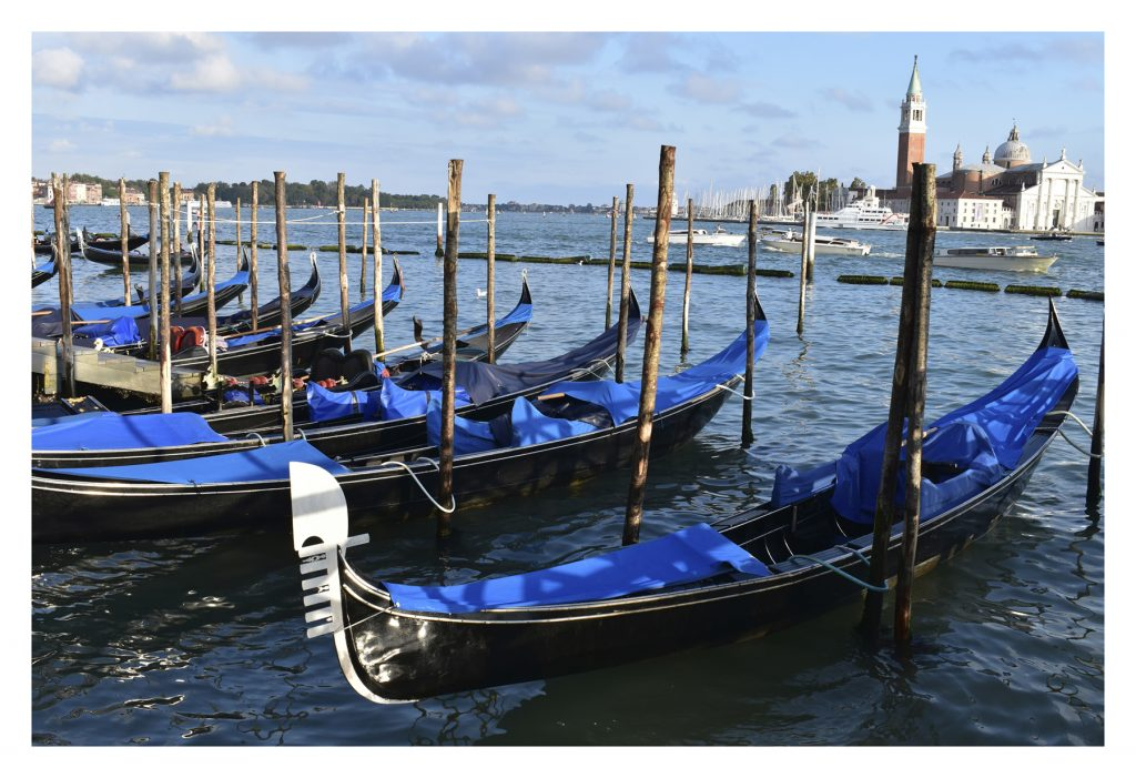 Sleeping Gondolas, Venice, Italy {Copyright Italian Allure Travel Pty Ltd}