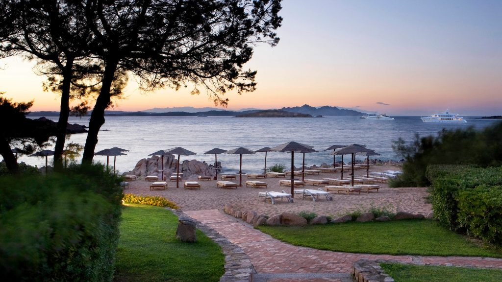Private Beach at Hotel Pitrizza, a Luxury Collection Hotel, Costa Smeralda